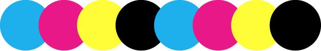 4 colori: CMYK